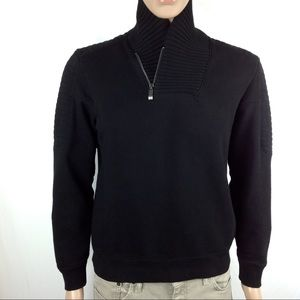 Calvin Klein Asymmetrical Zip Fleece Sweatshirt M